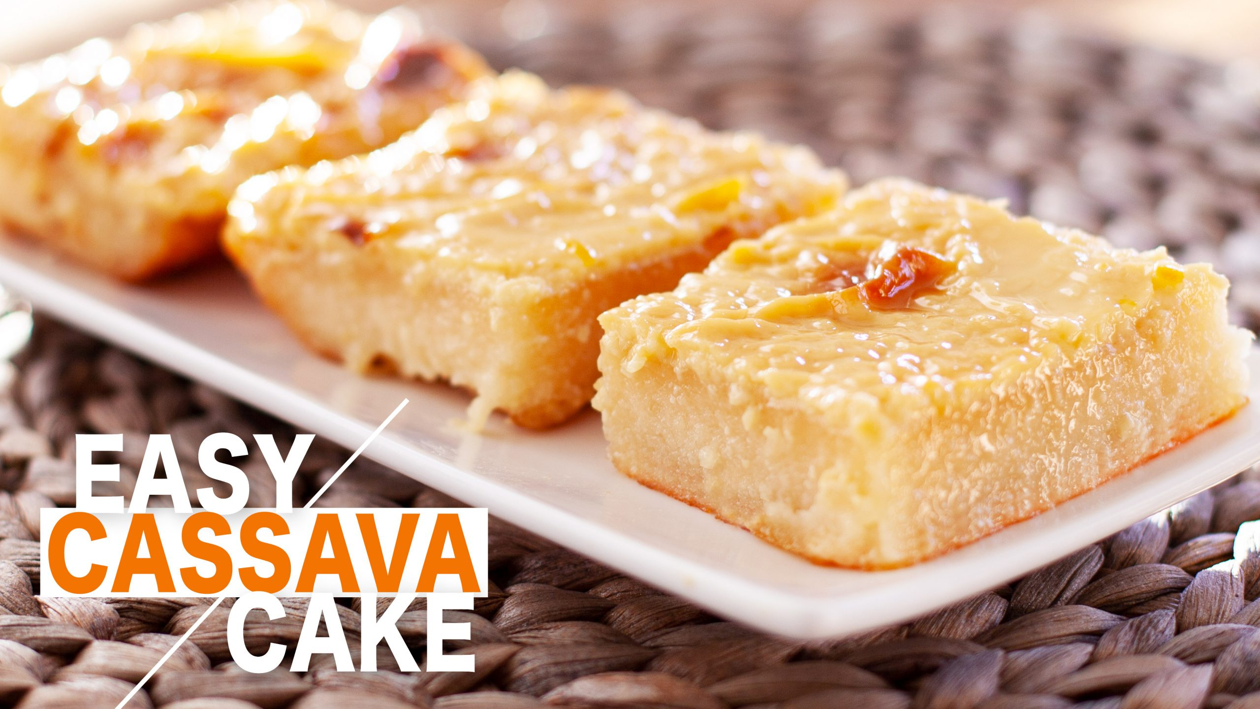 Texas Pinoy Kitchen Cassava Cake
